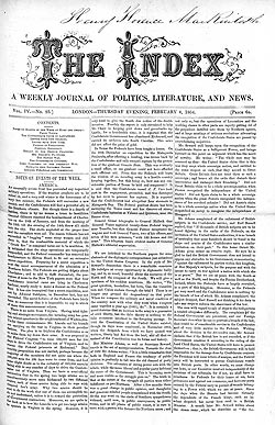 The Index – 4 February 1864